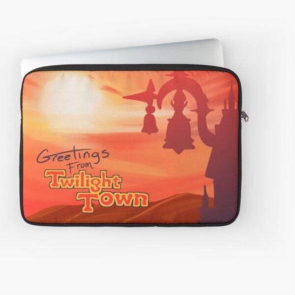 Saludos desde Twilight Town Funda para portátil