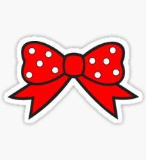 Pegatina red bow