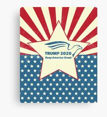 Trump 2020 Keep America Great - Star Spangled Banner Canvas Print