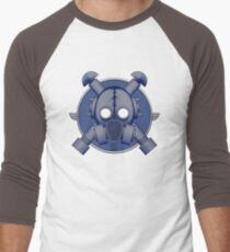 Art Deco Midnight Gasmask Men's Baseball ¾ T-Shirt