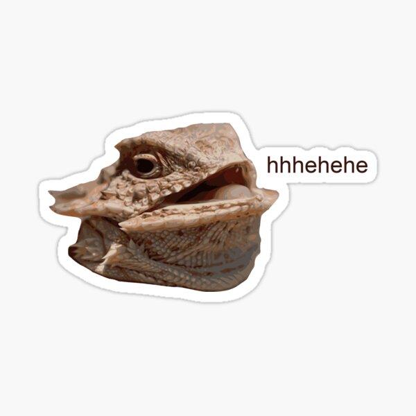 Laughing Iguana HeHe Lizard Sticker