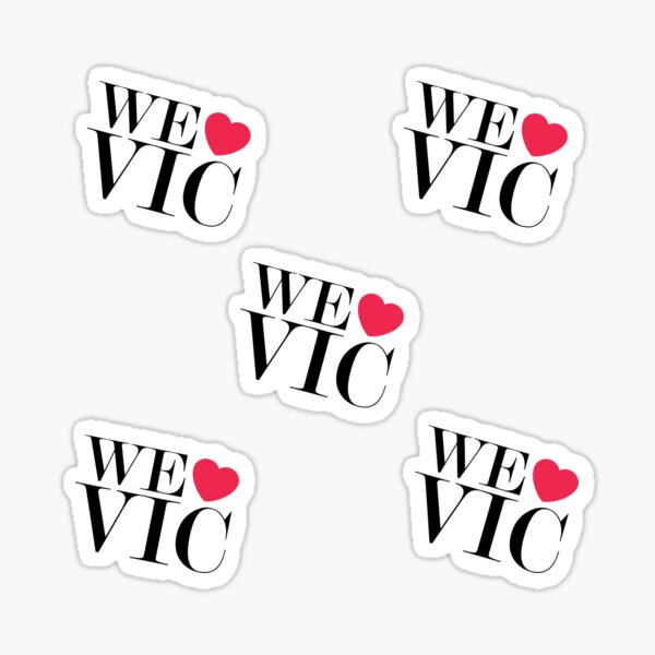 We Heart Vic We Love Vic Sticker Pack #welovevic #istandwithvic #vickicksback Sticker