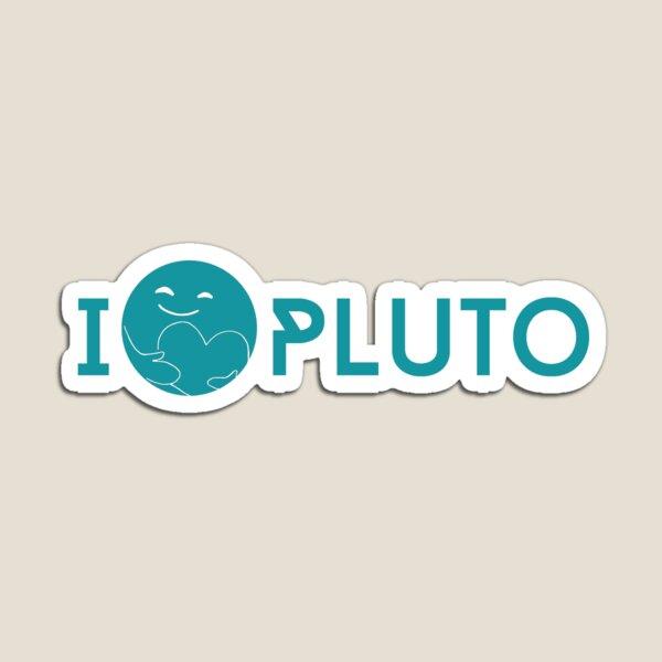 I <3 Pluto (teal) Magnet