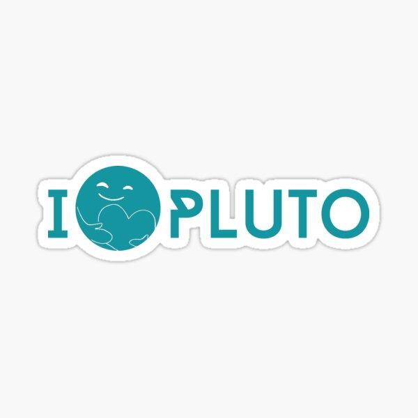 I <3 Pluto (teal) Sticker