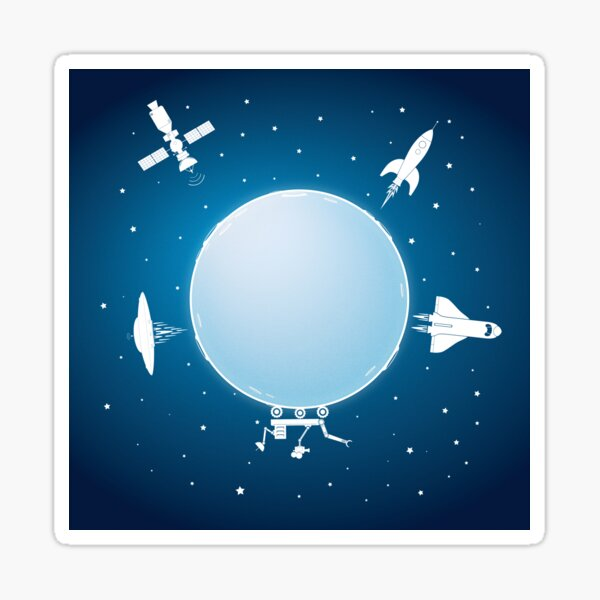 Moon Orbit Sticker