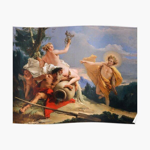Giovanni Battista Tiepolo. Apollo Pursuing Daphne, 1755-60. Poster