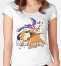 I Main Duck Hunt - Super Smash Bros. Women's Fitted Scoop T-Shirt