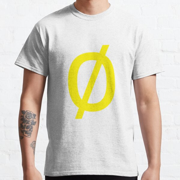 "Empty Set - Unicode Character ""∅"" (U+2205) Yellow Classic T-Shirt"