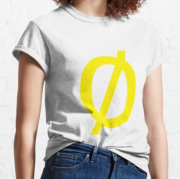 "Empty Set - Unicode Character ""∅"" (U+2205) Yellow Classic T-Shirt"