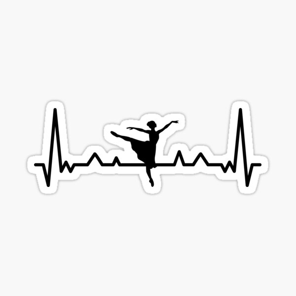 Ballet Heartbeat Sticker