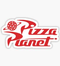Pizza Planet Shirt - Toy Story, Woody, Summen Sticker