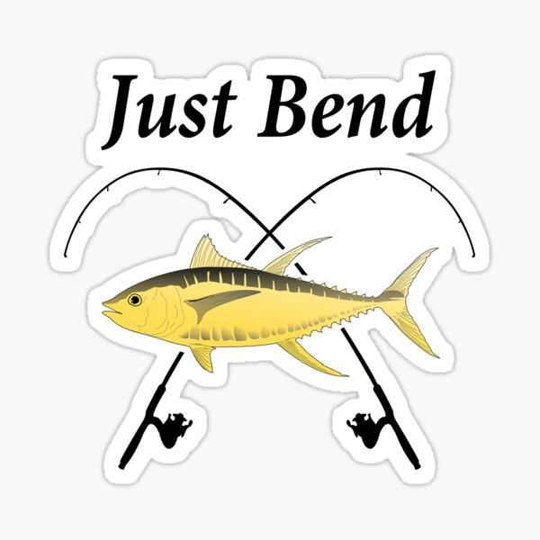 Bending Fishing Rod Stickers Redbubble
