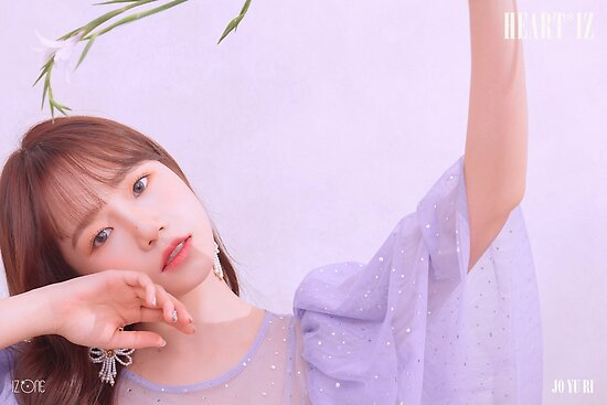 'IZ*ONE HEART*IZ (2nd Mini Album) Violeta Version | Jo Yuri (조유리)' Poster  by WANNA-ONE AND IZ*ONE SHOP