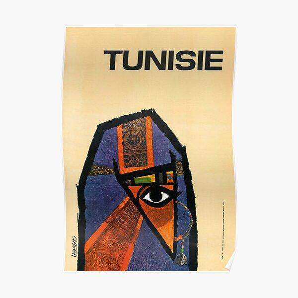 Affiche Vintage de Voyage Tunisie Restaurée Poster