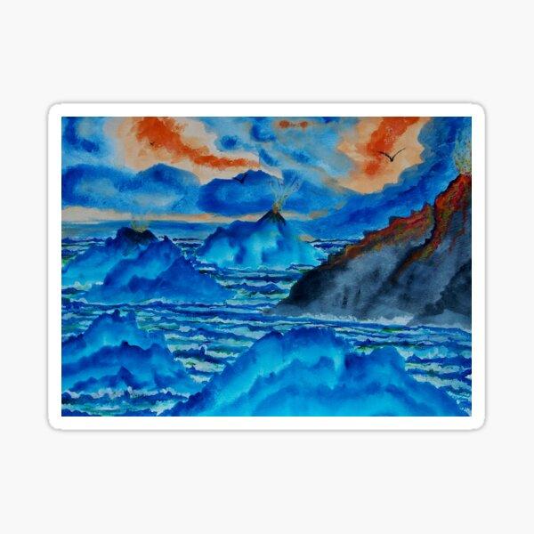 Blue Island Volcanoes Sticker