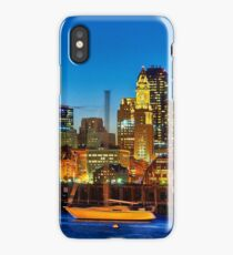 Boston skyline- Piers Park View  iPhone Case/Skin