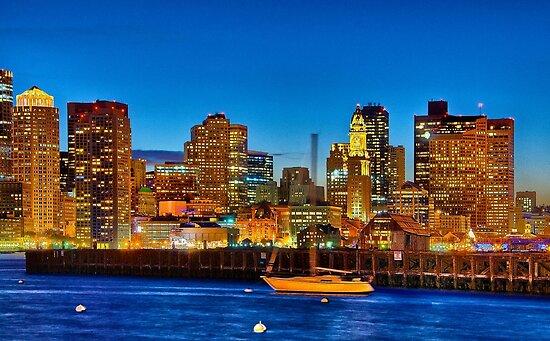 Boston skyline- Piers Park View  by LudaNayvelt