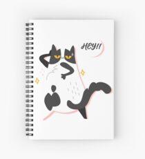 Hey Cat Call Spiral Notebook