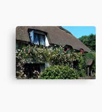 OLDE WORLDE DEVON COTTAGE Canvas Print