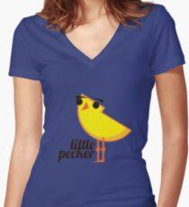 Little Pecker Women's Fitted V-Neck T-Shirt