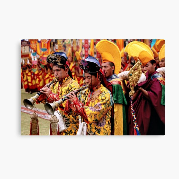ritual. mindrolling gompa, northern india Canvas Print