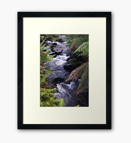 A Crystal Creek... Framed Print