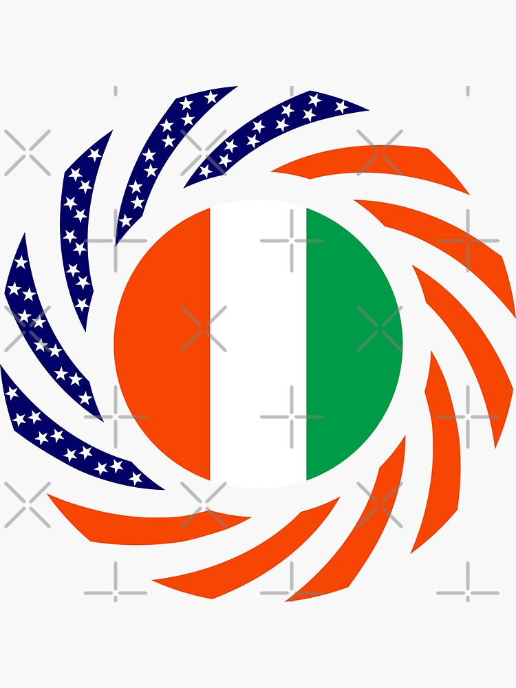 Ivory Coast American Multinational Patriot Flag Series by carbonfibreme