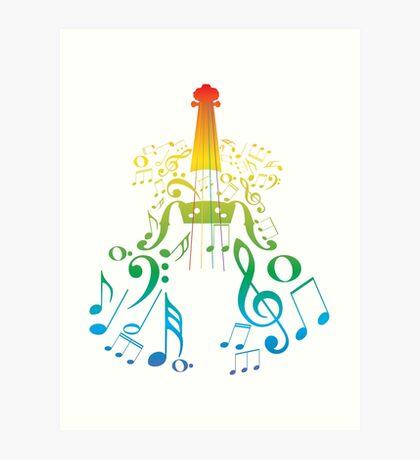 Violine mit Notes2 Kunstdruck
