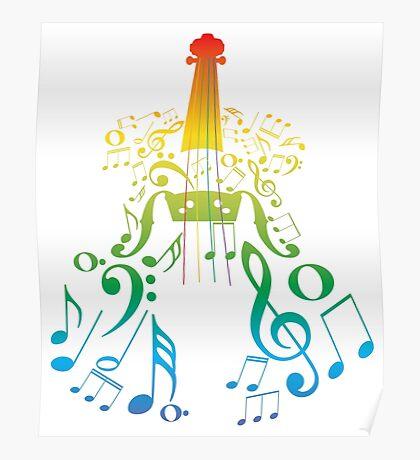 Violine mit Notes2 Poster