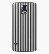Midnight Black and White Vertical Sailor Stripes Case/Skin for Samsung Galaxy