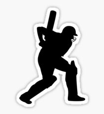 Cricket Sport Bat Ball Sticker