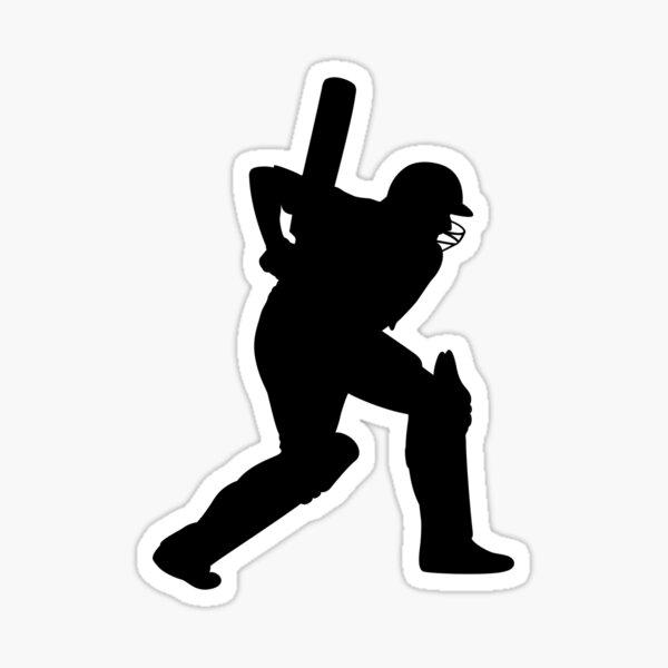 Cricket Sport Bat Ball Sticker