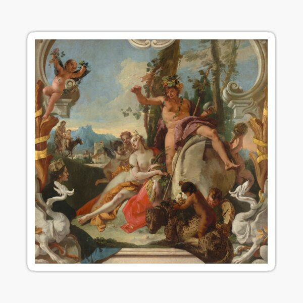 Giovanni Battista Tiepolo. Bacchus and Ariadne, 1743-45. Sticker