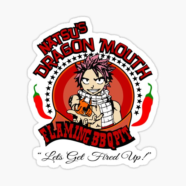 Natsu BBQ FairyTale Anime Sticker