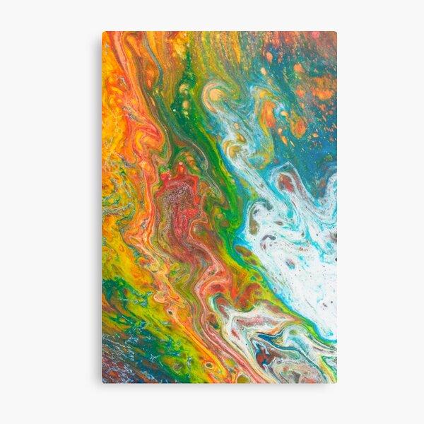 Molten Rainbow Metal Print