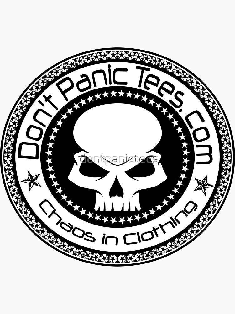 Dont Panic Skull logo by dontpanictees