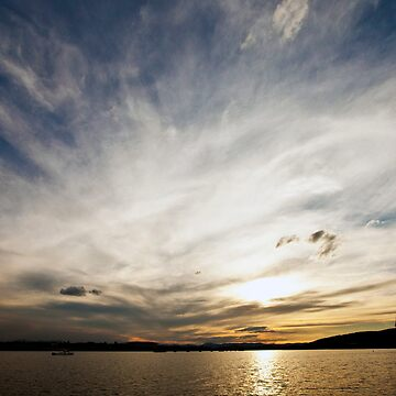 Sunset over Canberra by pdore