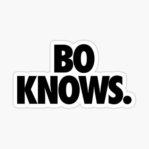 BO KNOWS. Sticker