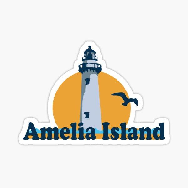 "AI Amelia Island Oval Black car bumper sticker decal 5/"" x 3/"""