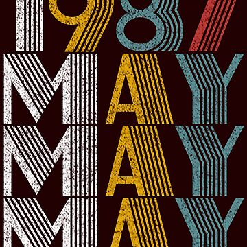 Vintage May 1987 Birthday Gifts by FiftyStyle