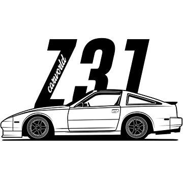 Nissan 300ZX Z31 Side Best Shirt Design by CarWorld