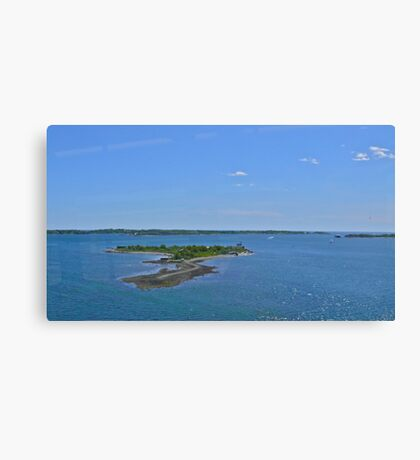 Rose Island from the RIPTA Bus - 2010 Canvas Print