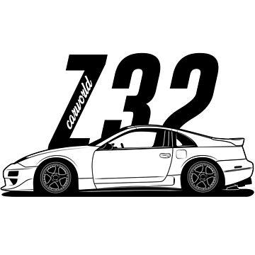 Nissan 300ZX Z32 Side Best Shirt Design by CarWorld