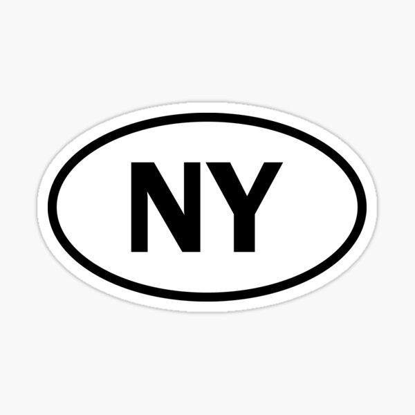 New York - NY - oval sticker and more Sticker