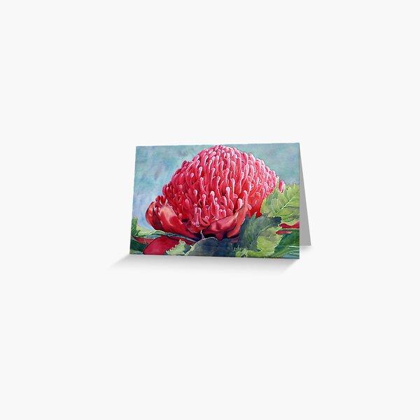 Red Waratah Greeting Card