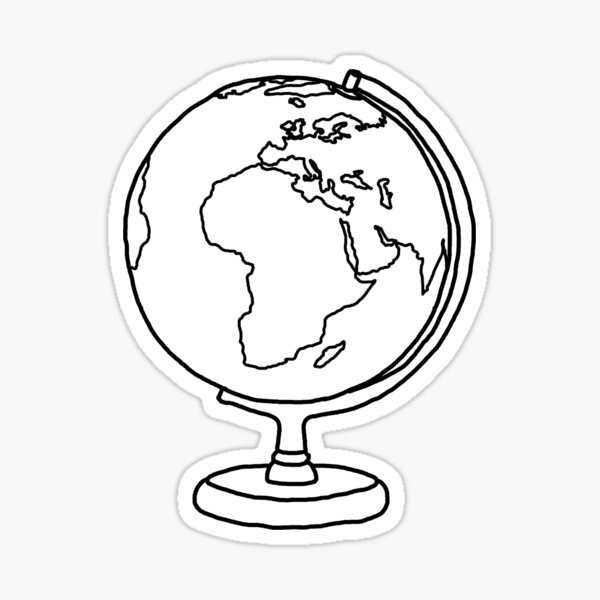 Simple Globe Graphic Sticker