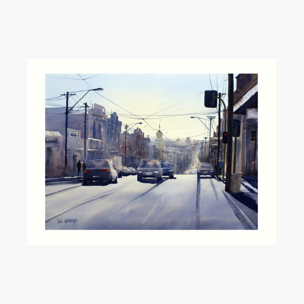 Early Morning Bridge Street, Melbourne Art Print
