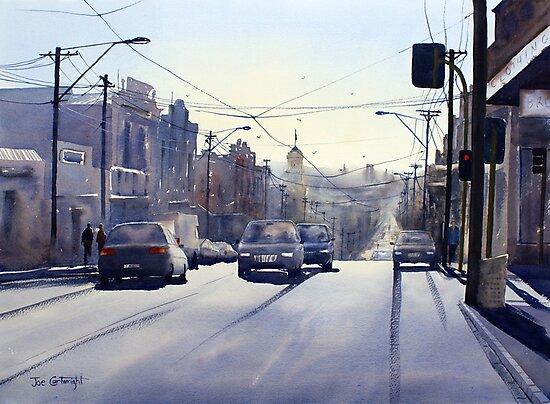 Early Morning Bridge Street, Melbourne by Joe Cartwright