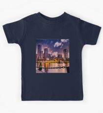 Skyline of Boston Harbor  Kids Tee