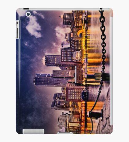 Skyline of Boston Harbor  iPad Case/Skin